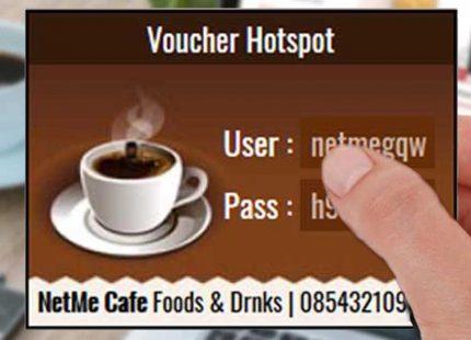 Coffee – Voucher Hotspot MikroTik untuk di Warkop, Kafe dan Toko